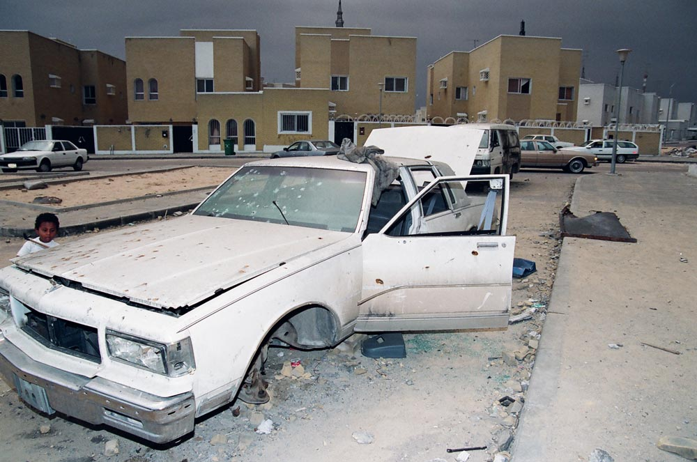 Al-Qurain House Exterior in 1991  The van followed the intelligence car and contained Iraqi soldiers. The van was hit by machine gun fire from the house.