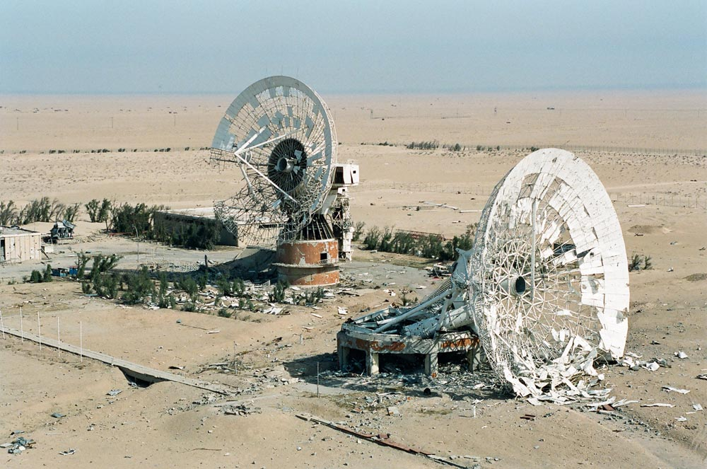 Umm Al-Aish Satellite Dishes  Both dishes were destroyed during the Iraqi occupation